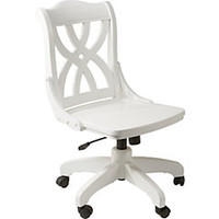 Oberon White Desk Chair
