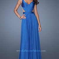Long V-Neck Formal Gown