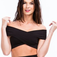 X Factor Cross Front Bandeau Top