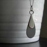 Rain Drop Necklace by TheAngryWeather on Etsy