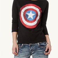 Captain America Raglan Top