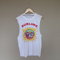 Sublime - White Crewneck Sweatshirt /