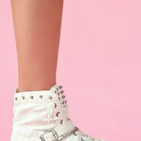 Alexander Spiked Sneaker - White in What's New at Nasty Gal