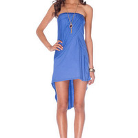 Baja Strapless Dress in Violet :: tobi