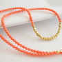 Coral Necklace Coral and Gold Necklace by Jewels2Luv on Etsy