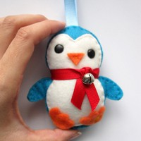 Adorable Felt Baby Penguin Plush Ornament | Luulla
