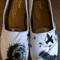 Custom Hand Painted Dandelion TOMS by jordanforrest on Etsy