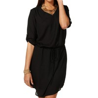 Black Marilyn Collar Tunic