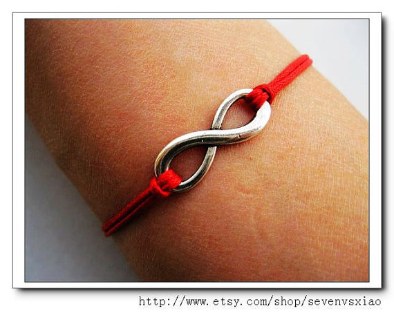 10OFF Red Ropes Steampunk Bracelet antique silver by sevenvsxiao