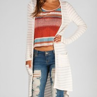 FULL TILT Hachi Knit Crochet Back Womens Wrap Sweater