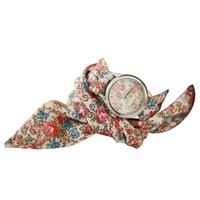 Sweet Girls Floral Print Band Wrist Quartz Watch