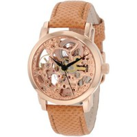 Akribos XXIV Women's AKR431RG Diamond Rose Gold Swiss Quartz Floating Watch - designer shoes, handbags, jewelry, watches, and fashion accessories | endless.com