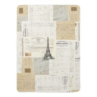 Vintage Paris French Ephemera Baby Blanket
