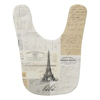 Vintage Paris French Ephemera Bib