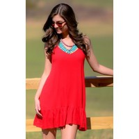Color My Soul Dress-Cherry