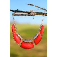 Easily Figured Out Necklace-Cherry