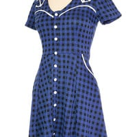 Anchors N' Gingham Knit Dress