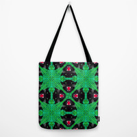 Tropical Gothic Pattern Tote Bag by chobopop