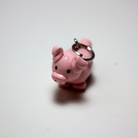 Pig Charm Polymer Clay by DragonFeetDesigns on Etsy