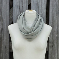 SANDSTONE NEUTRAL Infinity Scarf - Petite Eternity Scarf - Stone Putty Sand - Adults and Kids
