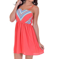By Invitation Only Dress - Coral