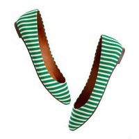 The Bungalow Stripe Sidewalk Skimmer - shoes &amp; sandals - Women&#x27;s NEW ARRIVALS - Madewell