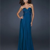 Sweetheart Empire Beaded Full length chiffon Prom Dress PD1807