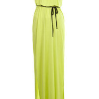 Lime Bandeau Maxi Dress - Miss Selfridge US