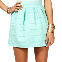 Mint Rubber Band Skater Skirt