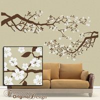 Vinyl Wall Decal Cherry Blossoms Tree Branch by Twistmo on Etsy