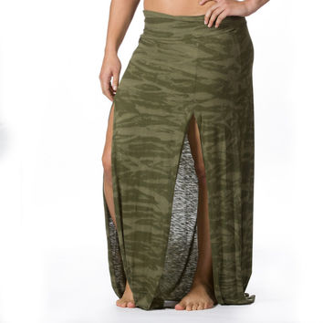 La Made Camo Tie Dye Skirt | Red Fly Clothing