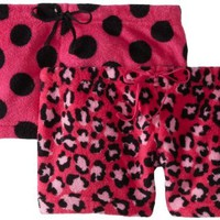 Sweet Junior's 2 Plush Shorts Leopard and Dot