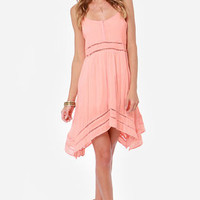 Volcom Last Call Peach Tank Dress