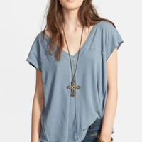 Free People 'At the Seams' Linen Blend Tee | Nordstrom