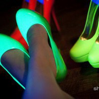 Roza Neon Platform Stiletto Pumps
