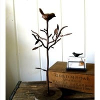 SALE Roselle Bird Jewelry Stand Tree Branch by selinabeadsnbits