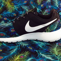 Customize Peacock Feather Nike Women Roshe Runs