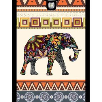 Elephant Art on Aztec Pattern Rubber Samsung Galaxy S4 case - Fits Samsung Galaxy S4 T-Mobile, Verizon, AT&T, Sprint and International