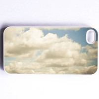 Iphone Case Clouds White Blue Silver Sky by SSCphotographycases