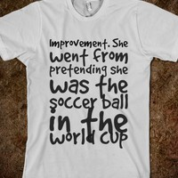 Girls soccer improvement t-shirt