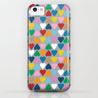 Up and Down Hearts on Grey iPhone & iPod Case by Project M