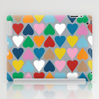 Up and Down Hearts on Grey iPad Case by Project M