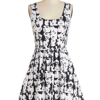 ModCloth Mid-length Sleeveless A-line Good Enough to Glance Dress