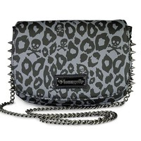 """Skull Leopard Spike"" Crossbody Bag by Loungefly (Black)"