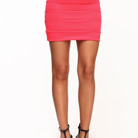 HIGH WAIST PANELED SKIRT