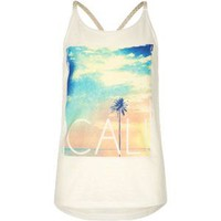 FULL TILT Cali Girls Braid Trim Tank