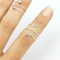 Tisa. Tibetan Wrap Knuckle Ring
