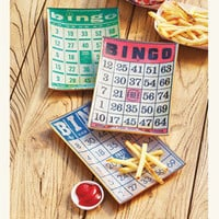 Bingo Card Appetizer Plates 