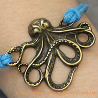  Bronze Octopus Bracelet  by handworld