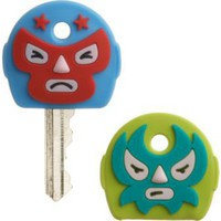 CB2 - lucha key toppers set of two